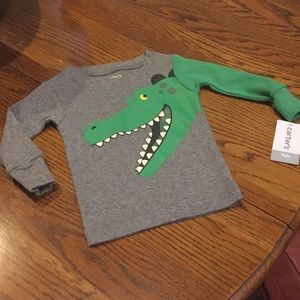 Alligator tee - Carter's 9 months. New with tags.